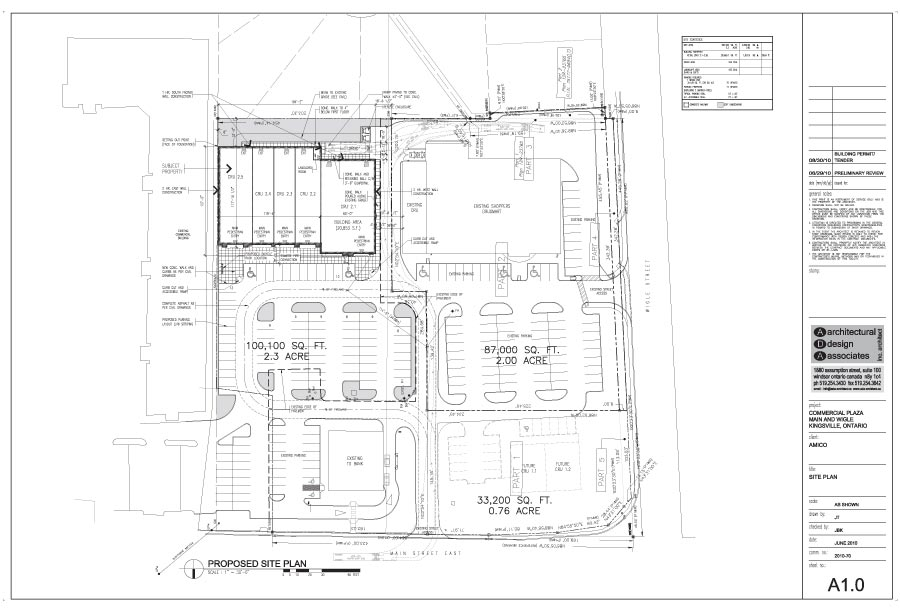 Kingsville-Commercial-Site-Plan